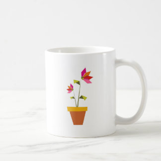 origami flowers in a pot coffee mug