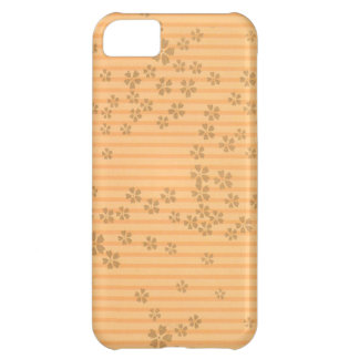 Origami Flowers Stripes iPhone 5C Cover