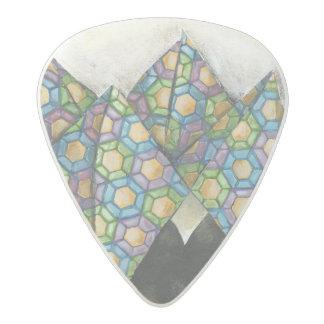 Origami Fortune Teller on Geometric Paper Acetal Guitar Pick