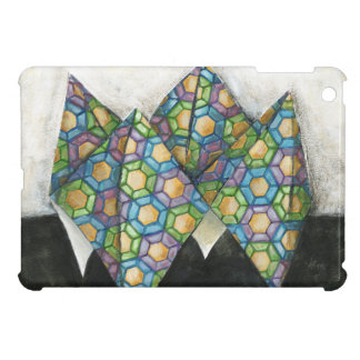 Origami Fortune Teller on Geometric Paper iPad Mini Cases