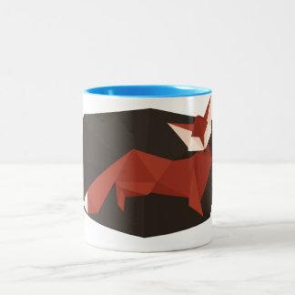 Origami Fox 11 oz Two-Tone Mug