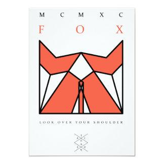 """origami fox invitación 5"""" x 7"""""""