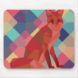 Origami Fox Mouse Pad