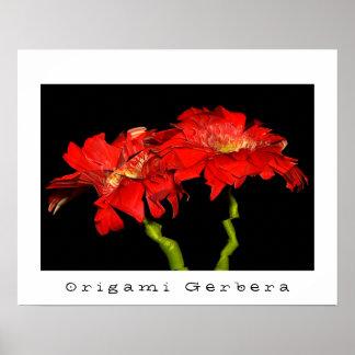 Origami Gerbera Print