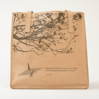 Origami Hanging Paper Crane on Tree Branches Bag