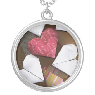 Origami Hearts Necklace
