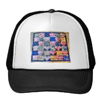 ORIGAMI HEARTS & PATCHWORK QUILT TRUCKER HAT