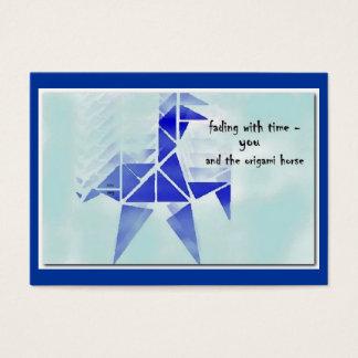 ORIGAMI HORSE ACEO HAIKU ART TRADING CARD--------- BUSINESS CARD