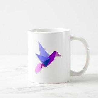 Origami hummingbird coffee mug
