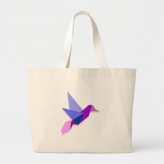Origami hummingbird large tote bag