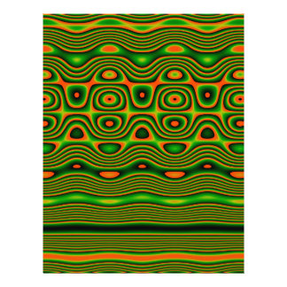 Origami Paper, Abstract Digital Tribal Art, Green Flyer