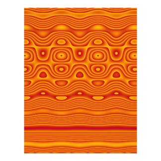 Origami Paper, Abstract Digital Tribal Art, Orange Flyer