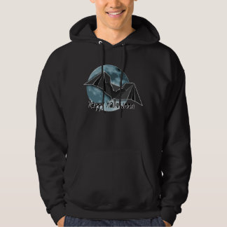 Origami Paper Bat with Full Blue/Yellow/Brown Moon Hoodie