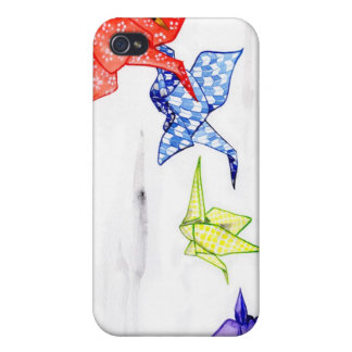 Origami Paper Cranes iPhone 4 Cover