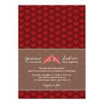 Origami Paper Cranes Scallop Modern Wedding Invite Invites