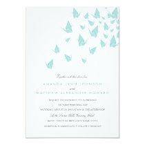 Origami Paper Cranes Wedding Invitation