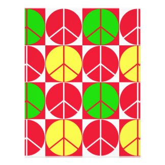 Origami Paper Peace Checkered Red Yellow Green