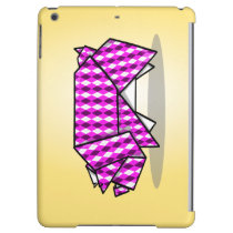Origami Pig Geometric Pink Pattern iPad Air Case