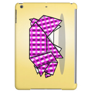 Origami Pig Geometric Pink Pattern iPad Air Cover