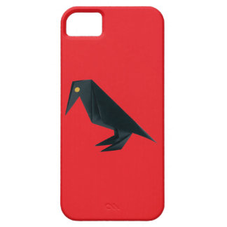 Origami Raven on Red iPhone 5 Covers