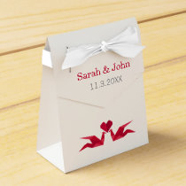 origami red cranes Wedding favor box