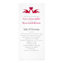 origami red cranes Wedding programs