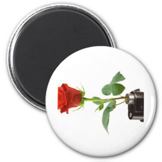 Origami Rose-Automatic Apparel 2 Inch Round Magnet