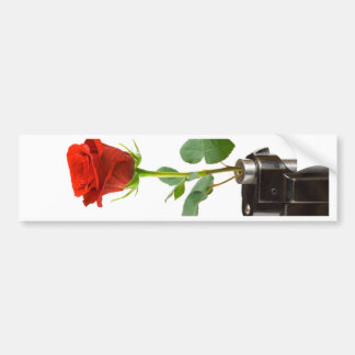 Origami Rose-Automatic Apparel Bumper Sticker