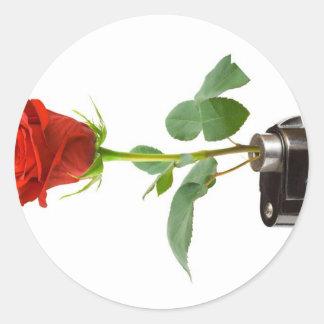 Origami Rose-Automatic Apparel Classic Round Sticker