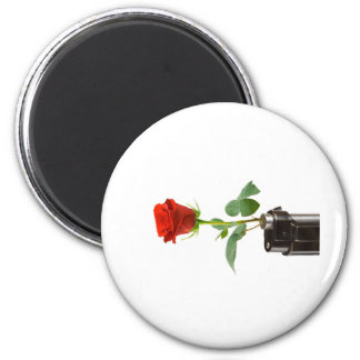 """Origami Rose """"Automatic"""" Apparel Store 2 Inch Round Magnet"""