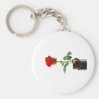 """Origami Rose """"Automatic"""" Apparel Store Basic Round Button Keychain"""