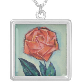 Origami Rose Necklace