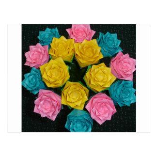 Origami Roses Postcard