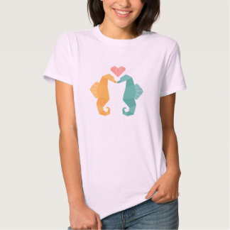Origami Sea Horse Love T-shirt