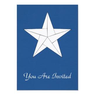 Origami Star – White 5x7 Paper Invitation Card
