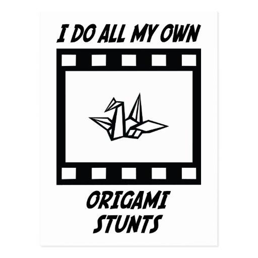 Origami Stunts Post Card