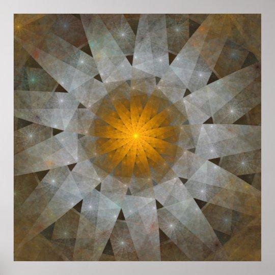 Origami Sun Poster Zazzle