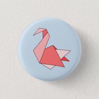 Origami Swan Pinback Button