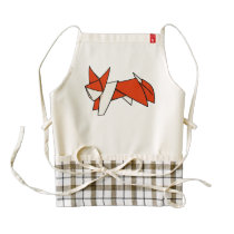 Origami Textured Patterned Fox Zazzle HEART Apron