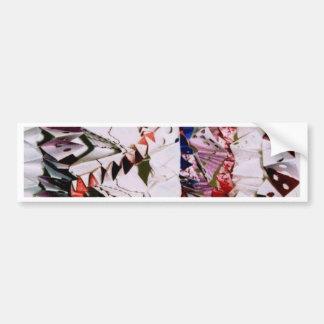 Origami Weave Bumper Sticker