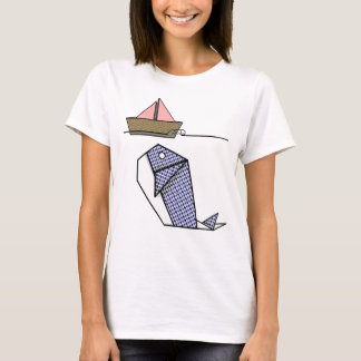 Origami Whale Moby Dick T-Shirt