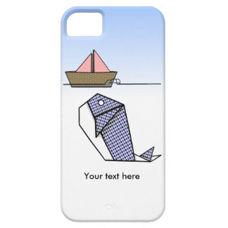 Origami Whale Under Paper Boat iPhone SE/5/5s Case