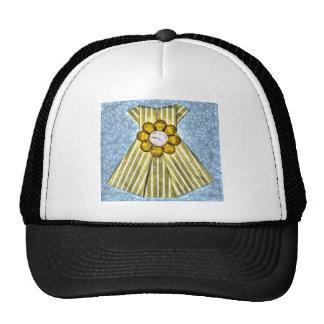 ORIGAMI YELLOW DRESS PAPER ART TRUCKER HAT