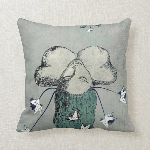 Origami's passion throw pillow
