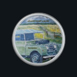 "OrigAudio Bumpster Speaker<br><div class=""desc"">Bumpster Speaker With Series 1 Land Rover Design. From an original painting by GJLC . JackCrisp.co.uk</div>"