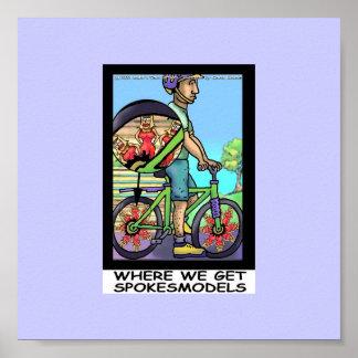 Origen del poster divertido de la bicicleta divert