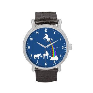 Origen divertido del unicornio reloj de mano