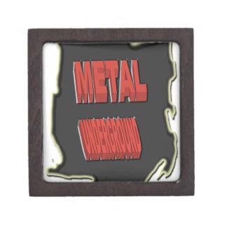 Origen étnico negro subterráneo del metal caja de regalo de calidad