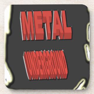 Origen étnico negro subterráneo del metal posavasos