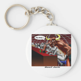 Orígenes vaca de la cecina y regalos divertidos de llavero personalizado